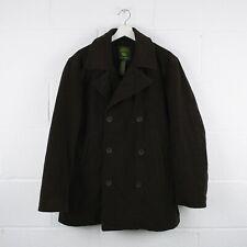 Vintage TIMBERLAND Dark Brown Wool Pea Coat Size Mens Medium /R37009