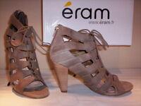 Scarpe sandali alla schiava Eram donna gladiatore tacchi alti pelle 36 37 38 39