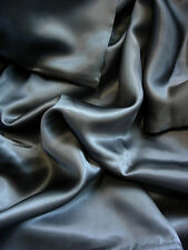 4 pc 100% Mulberry silk charmeuse sheet set King Dark Gray by Feeling Pampered