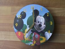 MICKEY MOUSE CLUBHOUSE - WOODEN CLOCK  - FREE POSTAGE