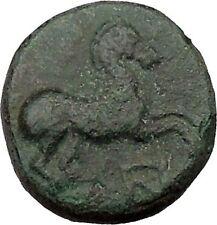 Maroneia in Thrace 400BC Original Ancient Greek Coin Horse Vine Grapes  i37003
