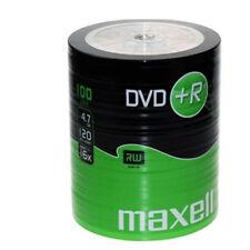 MAXELL DVD+R Blank Recordable Digital Disc DVDR 4.7GB 16x SPEED 120mins 100 Pack