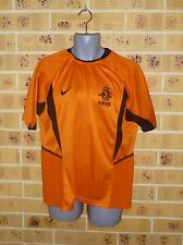 Authentic 2002 XL Mens Holland Netherlands Soccer Jersey Nike VAN NISTELROOY # 9
