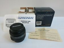 Quantaray 24mm F2.8 Autofocus, Wide Angle, Multi-Coated Lens For Canon EF, New