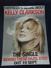 KELLY CLARKSON SIGNED POSTER