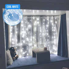 300LED White Wedding Curtain String Lights USB Fairy Lamp with Remote Control US
