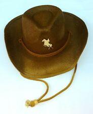 6c5683dc2b3 Conner Happy Horse Kids Western Hat One Size Brown Chin Cord Brim Boys Girls