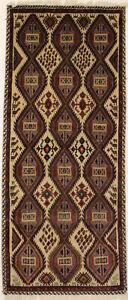 Handmade Semi Antique Tribal Design 3X6 Foyer Area Rug Oriental Kitchen Carpet