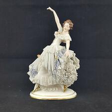 More details for dresden figurine lace ballerina dancing girl - damaged