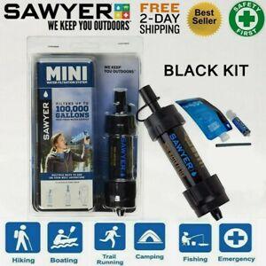 NEW SAWYER MINI WATER FILTER KIT BLACK- Filtration Survival Purification Straw