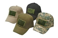 Special Forces Operator Tactical American US Flag Baseball Hat Cap - CAMO