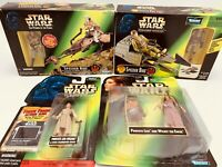 Star Wars POTF Endor Lot of 4: Speeder Bike Leia, Wicket & Leia, EU Speeder Bike