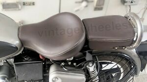 Stylish Front & Rear Seat Brown For Royal Enfield Classic 350 500 Extra comfort