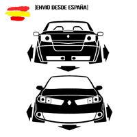 pegatina silueta MEGANE 2 cabrio dow flechas vinyl sticker racing decal