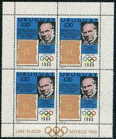Uruguay 1042 sheet,MNH.Mi 1538. Rowland Hill,Olympics Lake Placid,Moskow-1980,