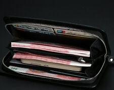 Men's Leather Long Bifold Wallet ID Card Holder Clutch Checkbook Handbag Purse