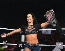 """Wwe Foto AJ Lee campeón oficial de lucha libre 8x10"""" Promo Divas Cinturón"""