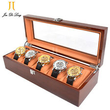 Watch Case for Men 5 Slots Solid Wood Storage Organizer Display Box Exquisite