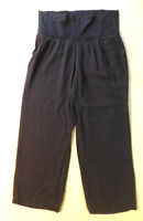 Old Navy Maternity Pants Womens Size L Blue Casual Wide Leg Great Condition