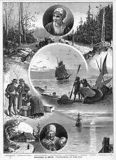 Estonia, Eesti, Reval, Tallin, sammelblatt, madera picadura de 1884