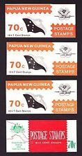 Papúa Nueva Guinea 1971-73 folletos SG SB3, SB4 y SB5 x2.