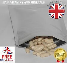 60 HAIR CARE VITAMINS - RETURN VITALITY - FAST GROWTH - VITAMIN AND MINERALS