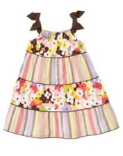 NWT 5T 5 Years Gymboree GLAMOUR SAFARI Tiered Striped & Floral Dress