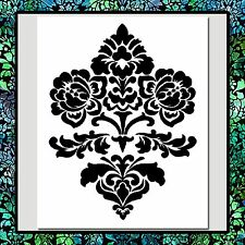 9 X 11 Floral/Flowers DAMASK Design/Pattern STENCIL Wall/Texture/Craft/Airbrush