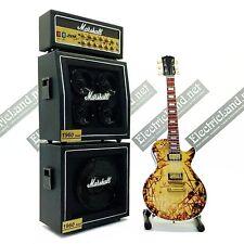 Mini Guitar rammstein kruspe + Amplifier Amp scale 1:4 miniature collectible