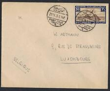 EGYPT 1924 PORT SAID TRAFFIC NEAT CANCELS ON AIR MAIL COVER TO LUXEMBOURG