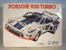 Nikko Japan RC Modell Porsche 935 Turbo 27 Mhz Martini Racing in O-Box #721