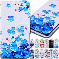 For Huawei Phones Flip Stand Wallet PU Leather Back Card Cover Case Stand Skin
