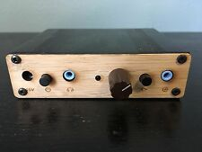 Objective2 Headphone Amplifier w/ power supply, wood front panel