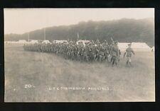 Military OTC Officers Training Cops TIDWORTH Pennings camp c1900/20s? RP PPC