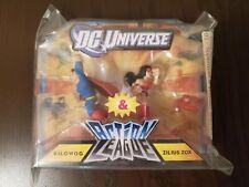 New Superman and Wonder Woman Action League Figures Set ERROR Packaging 2010