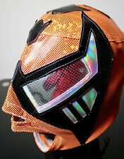 Mexican Wrestling Mask Black Warrior WWF UNDERGROUND NWO WWE Premium item Costum
