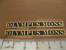G Scale Model Garden Railway Train Etched Brass Loco Namplates - Olympus Mons