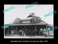 OLD LARGE HISTORIC PHOTO OF YANKALILLA SA, VIEW OF THE POST OFFICE c1910