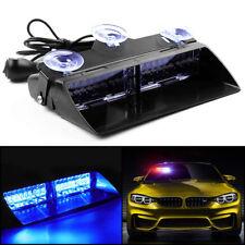 Auto KFZ 16 LED Blau Notfall Warnung Blitzlicht Dash Strobe Lampe Warnleuchte