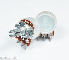 3 pcs  Alpha 100KW / W100K  Pot Potentiometer 17mm. Audio Balance Center Detent