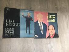 Lot De Lp 33t Léo Ferré 25cm Les Chansons D Aragon Et Paname