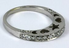 """Diamond Band 18k White Gold with 24-diamonds at 0.46ct total """"CLOSE OUT"""""""