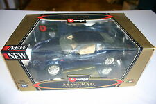 1/18 BURAGO MASERATI 3200 GT 1998 DARK METALLIC BLUE NEW IN DISPLAY BOX