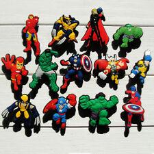 50pcs Lot Avengers Super Hero PVC Shoes Charms fit for Croc & Jibbitz Wristbands