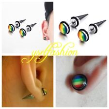 USA - LGTB Rainbow Earring Gay Pride Spike Stud Earring Stainless Steel Fashion