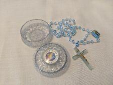 Vintage Rosary Iubilaeum AD 2000 Blue Plastic Original Box Item 583