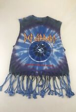 Def Leopard Adrenalize Tie-Dye T-Shirt Size Small Fringe And Sleeveless