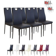 6 x Esszimmerstühle SALERNO Schwarz Esszimmerstuhl Küchenstuhl Stuhl Stühle