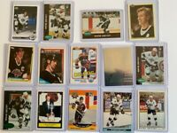 Wayne Gretzky, Mario Lemieux, Hull & Trottier(RC)  LOT 42 cards great shape