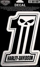 Genuine Harley Davidson Willie G Skull Number #1 Decal Sticker DC718303